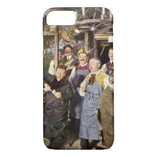Vintage Restaurant Bar People Celebrating Party iPhone 8/7 Case
