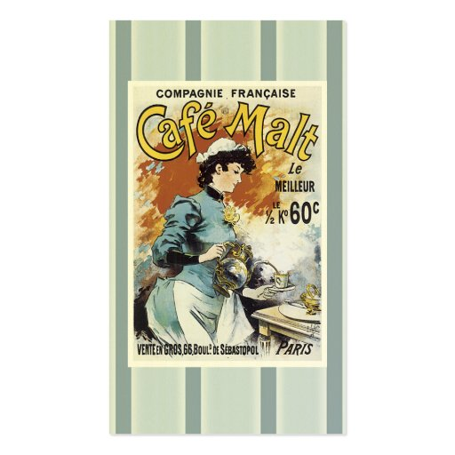 Vintage Restaurant Business Card