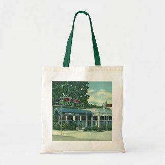 Vintage Restaurant, Retro Rhinebeck Roadside Diner Canvas Bags