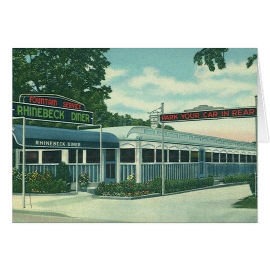 Vintage Restaurant, Retro Rhinebeck Roadside Diner Card
