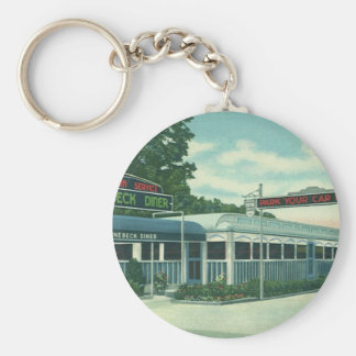 Vintage Restaurant Retro Rhinebeck Roadside Diner Key Chains