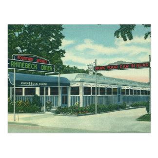 Vintage Restaurant, Retro Rhinebeck Roadside Diner Postcard