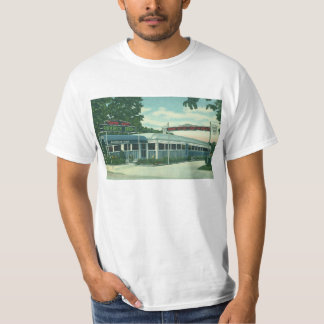 Vintage Restaurant, Retro Rhinebeck Roadside Diner T-Shirt