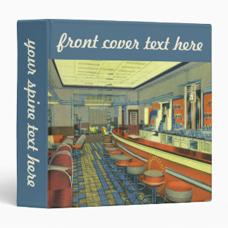 Vintage Restaurant, Retro Roadside Diner Interior Binder