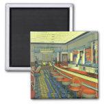 Vintage Restaurant, Retro Roadside Diner Interior Magnet