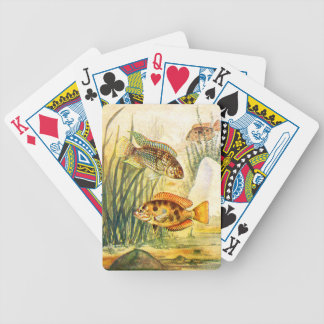 Vintage Restored Fish Bicycle Playing Cards