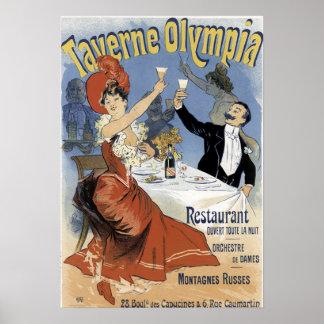 Vintage Resturant Poster