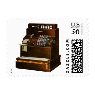 Vintage Retail Business, Antique Cash Register Postage