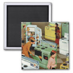 Vintage Retail Business, Appliance Showroom Store 2 Inch Square Magnet