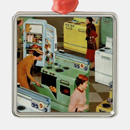 Vintage Retail Business, Appliance Showroom Store Metal Ornament