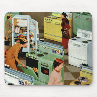 Vintage Retail Business, Appliance Showroom Store Mouse Pads