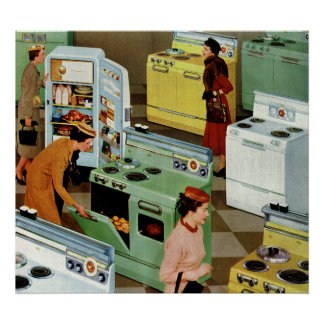 Vintage Retail Business, Appliance Showroom Store Poster