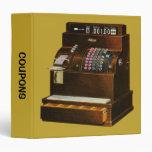 Vintage Retail Cash Register, Coupon Organizer Binders