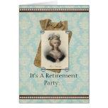 Vintage Retirement Invitation Cards
