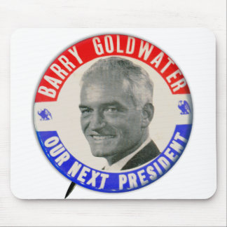 Vintage Retro 1964 Goldwater For President Button Mouse Pad