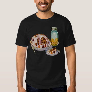 Vintage Retro 20s Baking Cookbook Art Plum Pie T-shirt