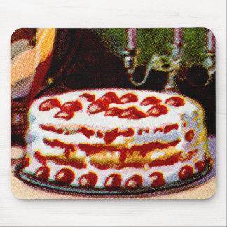 Vintage Retro 20s Baking Cookbook Art Shortcake Mouse Pad