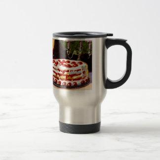 Vintage Retro 20s Baking Cookbook Art Shortcake 15 Oz Stainless Steel Travel Mug