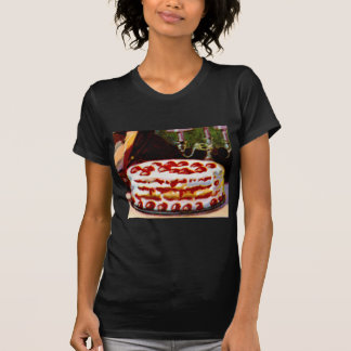 Vintage Retro 20s Baking Cookbook Art Shortcake T Shirts
