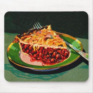 Vintage Retro 20s Fruit Cookbook Art Cherry Pie Mouse Pads
