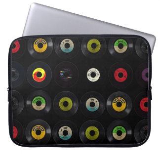 Vintage Retro 45 Vinyl Records Laptop Sleeve