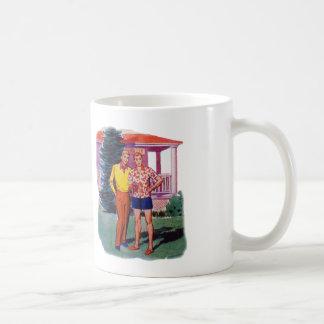 Vintage Retro 50s Gay Men Bob and Rob Coffee Mug