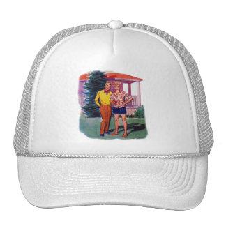 Vintage Retro 50s Gay Men Bob and Rob Trucker Hat