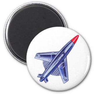 Vintage Retro 50s Jet Airplane Rocket Club Pin Magnet
