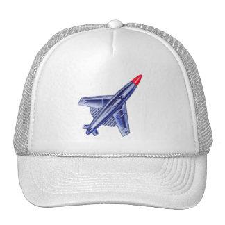 Vintage Retro 50s Jet Airplane Rocket Club Pin Trucker Hat