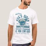 Vintage Retro 50s Style Pug's Diner (grey) T-Shirt