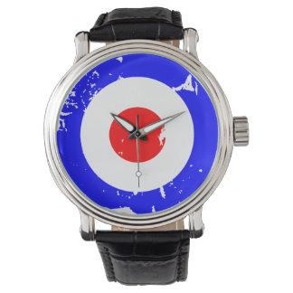 Vintage Retro Aged Mod Target Wristwatches