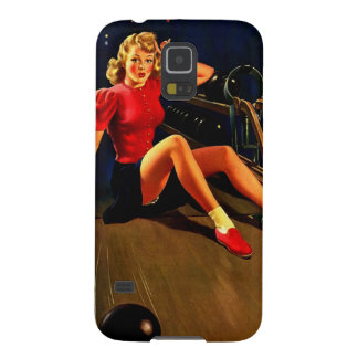 Vintage Retro Al Buell Bowling Pin-up Girl Galaxy S5 Case