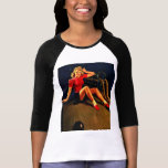 Vintage Retro Al Buell Bowling Pin-up Girl Tee Shirt