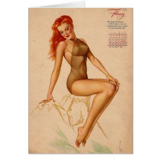 Vintage Retro Alberto Vargas Pin Up Girl Card