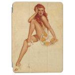 Vintage Retro Alberto Vargas Redhead Pin Up Girl iPad Air Cover