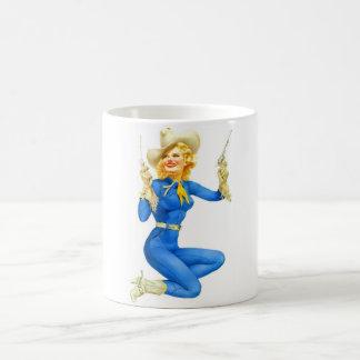 Vintage Retro Alberto Vargas Western Pinup Girl Coffee Mug