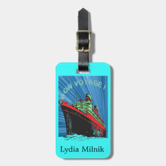 Vintage / Retro Art Deco Travel Design Product Luggage Tag