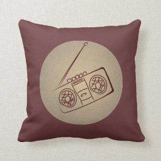 Vintage Retro Audio Cassette Player. Antique Paper Pillow