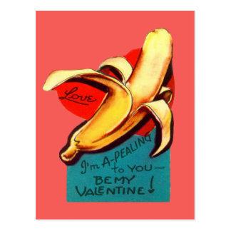Vintage Retro Banana Valentine Card Post Cards