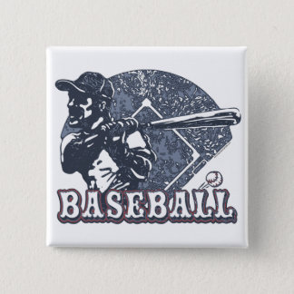 Vintage Retro Baseball Gear by Mudge Studios Button