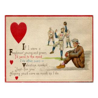 Vintage Retro Baseball Valentine Card