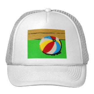 Vintage Retro Beach Ball Art Illustration Trucker Hat