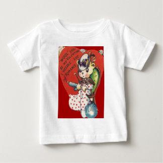 Vintage Retro Bear Knitting Valentine Card Baby T-Shirt