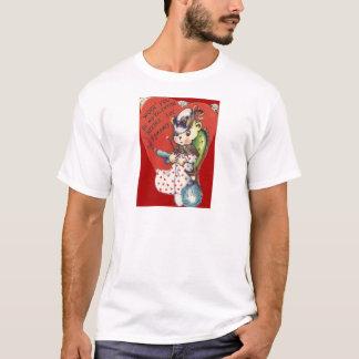 Vintage Retro Bear Knitting Valentine Card T-Shirt