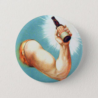 Vintage  Retro Beer Bier Bottled Vigor Ad Pinback Button