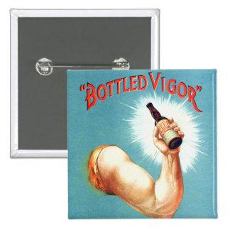 Vintage  Retro Beer Bier Bottled Vigor Ad Pinback Button