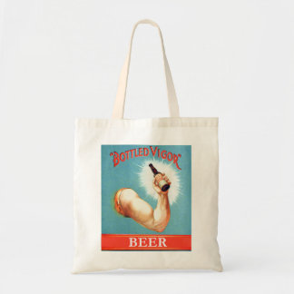 Vintage  Retro Beer Bier Bottled Vigor Ad Tote Bag