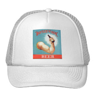 Vintage  Retro Beer Bier Bottled Vigor Ad Trucker Hat