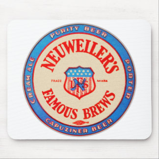 Vintage Retro Beer Nueweiler's Brews Coaster Mouse Pad
