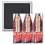 Vintage Retro Big Giant Soda Bottle Thermometer 2 Inch Square Magnet